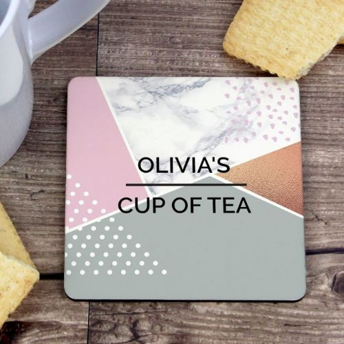 Personalised Geometric Coaster